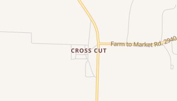 Cross Cut, Texas map