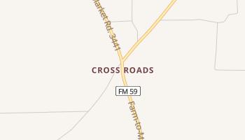 Cross Roads, Texas map