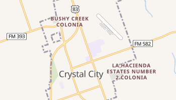 Crystal City, Texas map