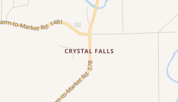 Crystal Falls, Texas map