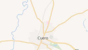 Cuero, Texas map