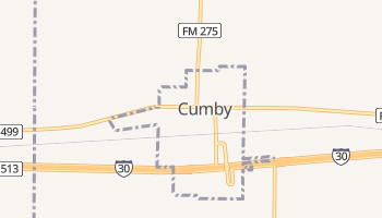 Cumby, Texas map