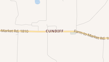 Cundiff, Texas map