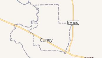 Cuney, Texas map