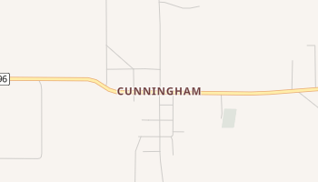 Cunningham, Texas map