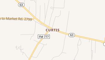 Curtis, Texas map