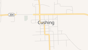 Cushing, Texas map