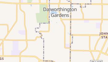 Dalworthington Gardens, Texas map