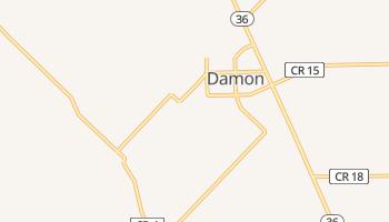 Damon, Texas map