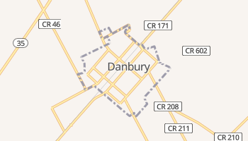 Danbury, Texas map
