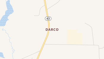 Darco, Texas map