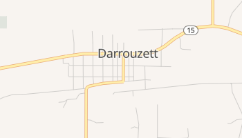 Darrouzett, Texas map