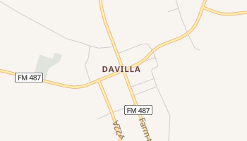 Davilla, Texas map