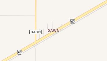 Dawn, Texas map