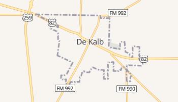 De Kalb, Texas map