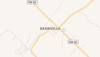 Deanville, Texas map