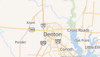 Denton, Texas map