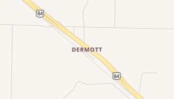 Dermott, Texas map