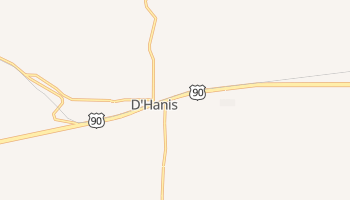 D'Hanis, Texas map