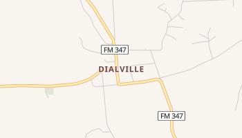 Dialville, Texas map