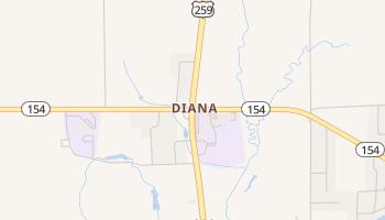 Diana, Texas map