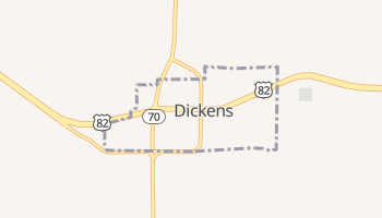 Dickens, Texas map