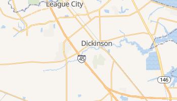 Dickinson, Texas map