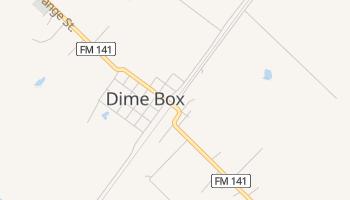 Dime Box, Texas map