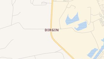 Dirgin, Texas map