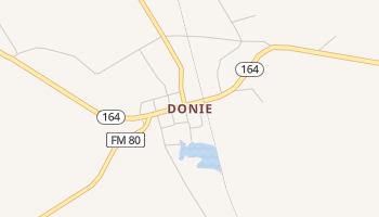 Donie, Texas map
