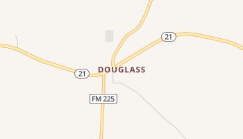 Douglass, Texas map