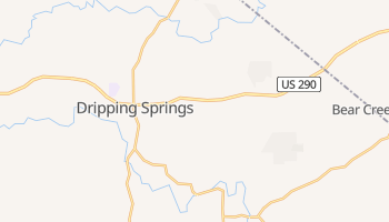 Dripping Springs, Texas map