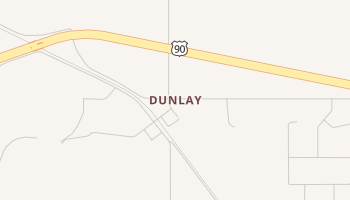 Dunlay, Texas map