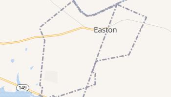 Easton, Texas map