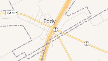 Eddy, Texas map