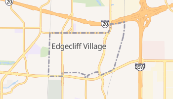 Edgecliff Village, Texas map