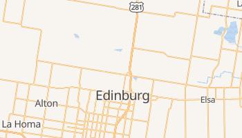 Edinburg, Texas map
