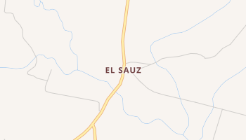 El Sauz, Texas map