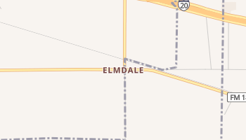 Elmdale, Texas map