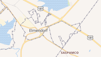 Elmendorf, Texas map