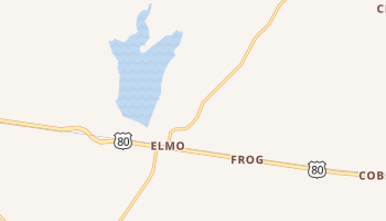 Elmo, Texas map