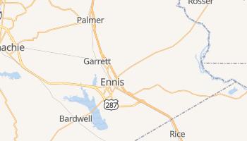 Ennis, Texas map