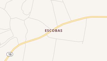 Escobas, Texas map