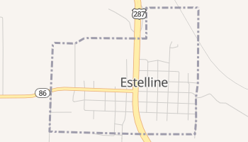 Estelline, Texas map