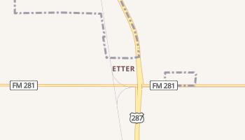 Etter, Texas map