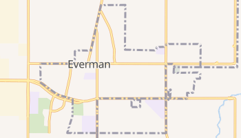 Everman, Texas map