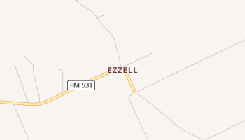 Ezzell, Texas map