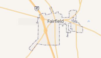 Fairfield, Texas map