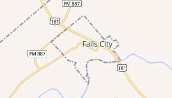 Falls City, Texas map