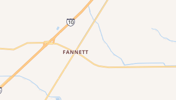 Fannett, Texas map